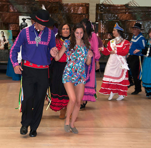 Seth Fairchild leads the friendship dance with Kayla Costigan of Boston, Mass.