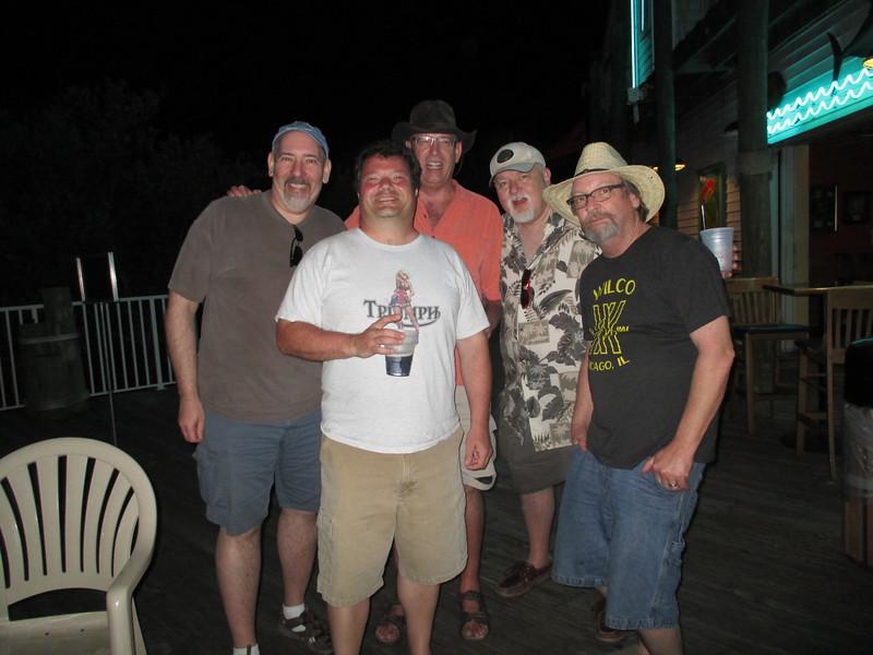 "L to R: Me ""Zurf"", Scott ""Beamer"" Sailer, Jeff ""Topdown"" Taylor, Robert Steven ""Topdawg"" O'Neal, Cowboy Keith Fulp."