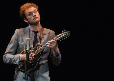 Chris Thile performs at the University of Denver's Newman Center on Oct. 5, 2013. Photos by Candace Horgan, heyreverb.com.