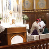 Blessing of the Oils, Eucharistic Liturgy begins