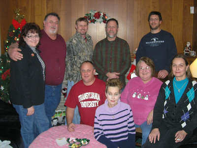 Left to right, standing - Alice, Roch, Todd, Mike, Steve. Seated - Buddy, Celeste, Judy, & my wife Adele.