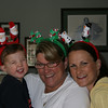 saying cheese and messin with the Xmas antlers