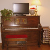 Player piano --- with Aunt Carole's sphere displayed prominently
