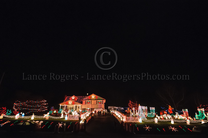 Christmas Lights at Santa Claus Ln, Delaware