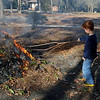 Burning fall leaves and other yard debris.