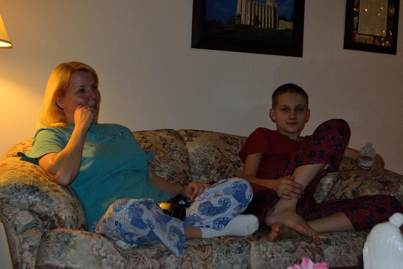 Celeste and Lucas on Christmas Eve
