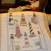 Lap quilt Sally made for Mark Robert--to be enjoyed when he returns from Afghanistan in late spring.