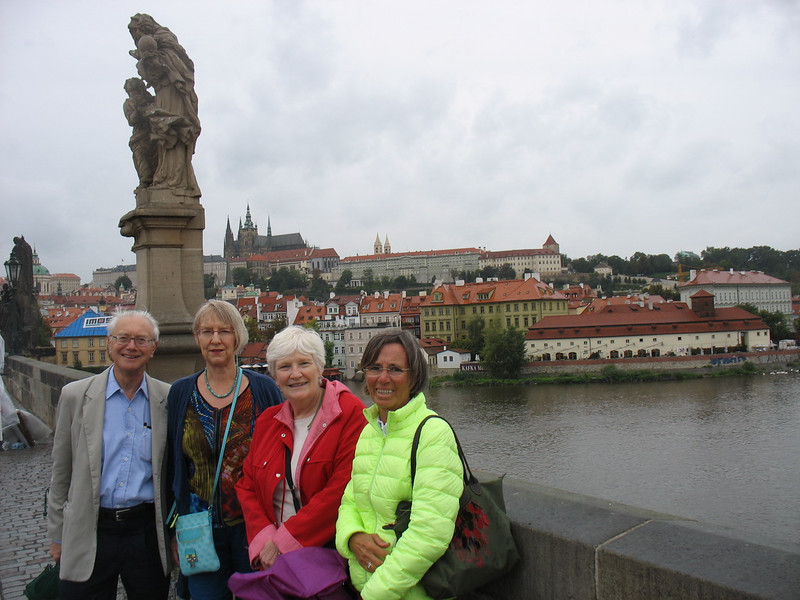After Prague we enjoyed a few days in Copenhagen where Bob had a meeting and Ann explored the city which has changed a bit since she was last there in 1979.<br /> <br /> <br /> This picture was taken on the Charles Bridge, Prague, en route to lunch and then a concert at  the castle (background).