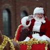 Santa in the Christmas parade.