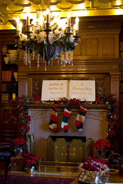 There was a fireplace in every room, most of them with stockings hung.