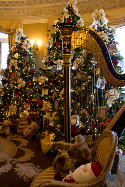 The music room -- I think was my favorite decorations