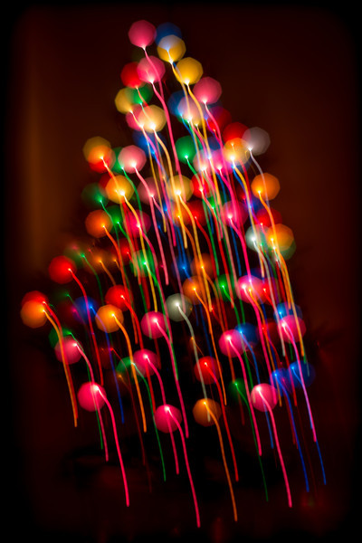 "Christmas tree lights can make interesting patterns.    Photographic technique inspired by Ottawa photographer David Johnson's <a href=""http://www.daveyjphoto.com/"" rel=""nofollow"">fireworks photos. </a>"