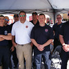 Suwannee County Fire and Rescue is pictured at their booth at Christmas on the Square. At 1 p.m., the squad demonstrated the jaws of life by cutting the roof off of a vehicle.
