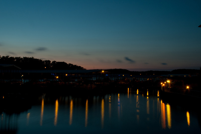 Lake of the Ozarks just after sunset taken at Summerset Inn in Osage Beach, MO.