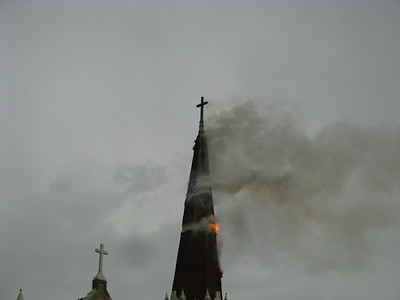 Church Steeple Fire