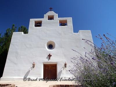 """Sanctuary & Russian Sage"" - St. Francis de Paula - Tularosa, New Mexico"