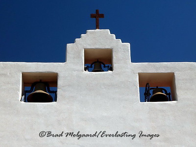 """Three Bells & The Cross""  St. Francis de Paula-Tularosa, New Mexico"