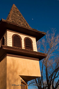 """Moonrise Bell Tower""-First Baptist Church-Carrizozo, New Mexico (est. 1908)"
