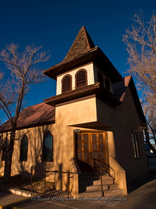 """Front Entrance""-First Baptist Church-Carrizozo, New Mexico (est. 1908)"