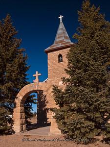 """""""Arch Entrance""""-San Juan Bautista-Duran, New Mexico (erected 1916)"""