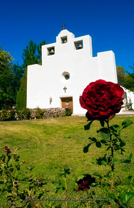 """Single Rose"" / St. Francis de Paula - Tularosa, New Mexico"
