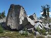 A huge boulder near Little Broken Top.