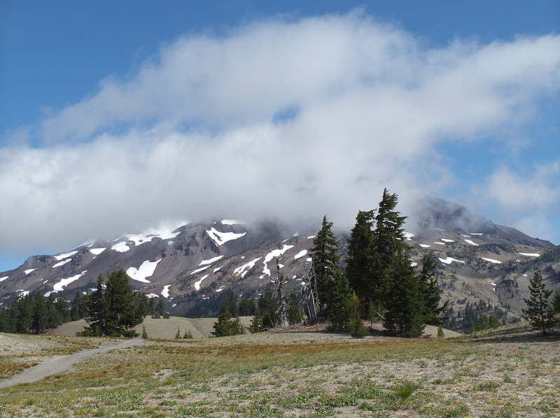 The clouds are clearing off of South Sister.
