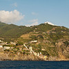 Starting with RIOMAGGIORE. Three pictures to see views of arriving at the town.