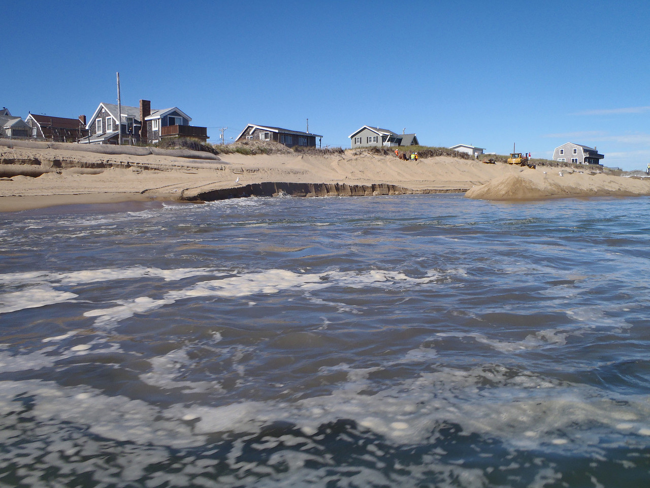 Pumping in sand from outside the mouth of the Merrimack River.