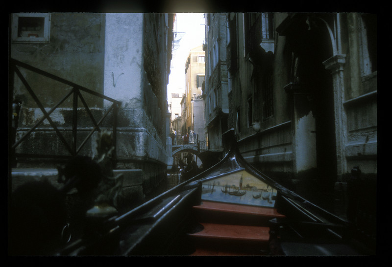 Canal with gondolas, Venice, Italy.