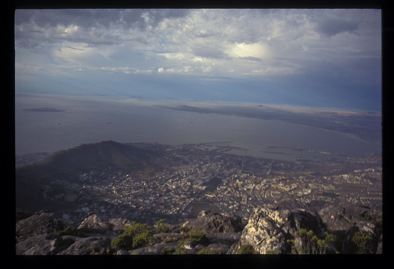 Cape Town, South Africa, from Table Mountain.
