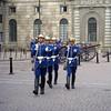 Changing guard at royal residence, Stockholm, Sweden.