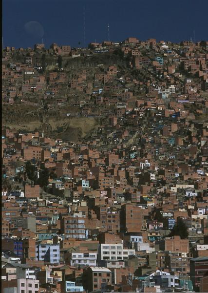 Detail of La Paz, Bolivia.
