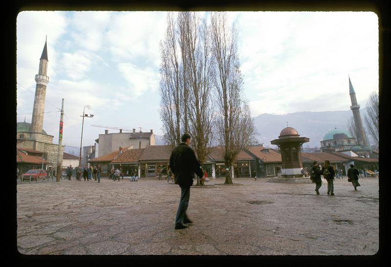 Central plaza, old town Sarajevo, Bosnia.