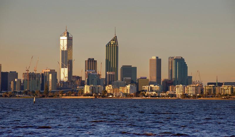 Perth, Australia and the Swan River.