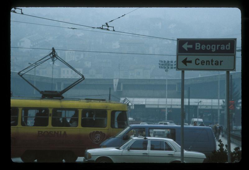 Trolley, Sarajevo, Bosnia.