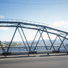 Bridge over the Ude River, Ulan Ude, Autonomous Republic of Buryatia, Siberia, Russia.