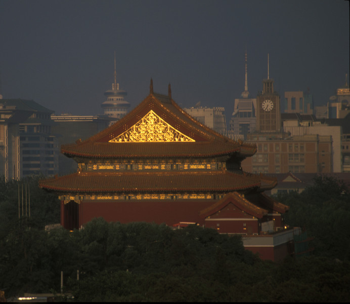 Tiananmen Gate, or the gate of heavenly peace, first built in 1417, Beijing, China.