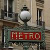 Metro stop, the Latin Quarter, Paris, France.