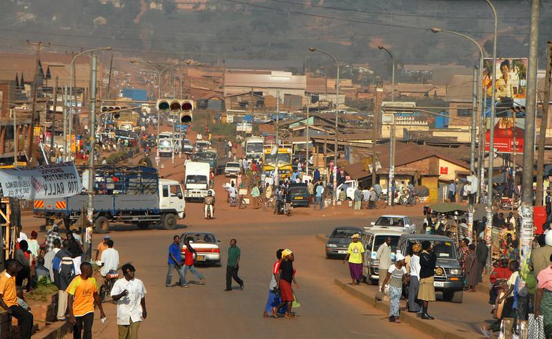 Traffic near Kampala, Uganda.