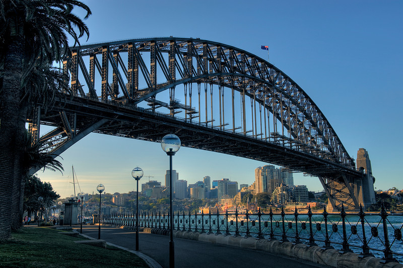 The Sydney, Australia harbour bridge.