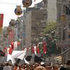 Istiklal Caddesi (Independence Avenue), the main predominantly pedestrian shopping street, Istanbul, Turkey.