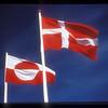 Danish and Greenlandic flags at Nuuk, Greenland.