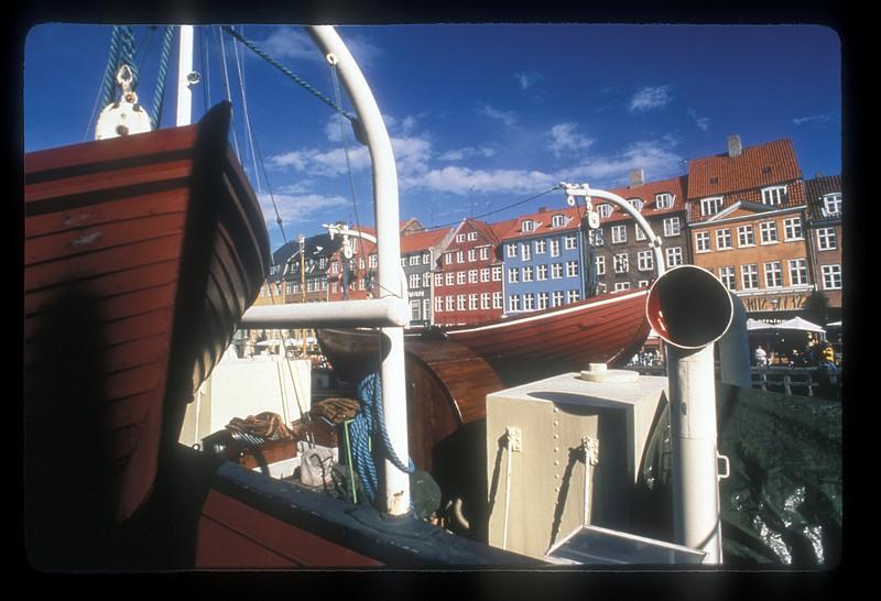 Ships ashore at Hyhavn wharf, Copenhagen, Denmark.