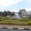 Traffic circle, Kigali, Rwanda.