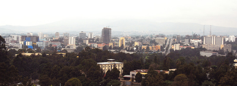 Addis Ababa panorama, Ethiopia.