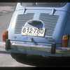 License plate, Montevideo, Uruguay.