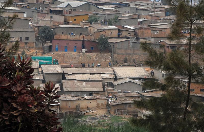 Suburban housing, Kigali, Rwanda.