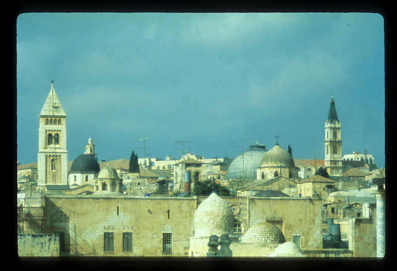 The rooftops of Jerusalem, Israel.
