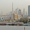 Dubai, United Arab Emirates, skyline, including Burj Dubai (currently the world's tallest building due to be 2684 feet - 707 meters - on completion) and Dubai Creek, or Khor Dubai.
